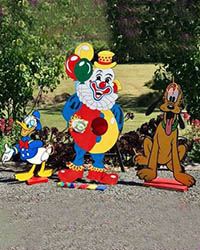 Clown Pluto Donald Set $90